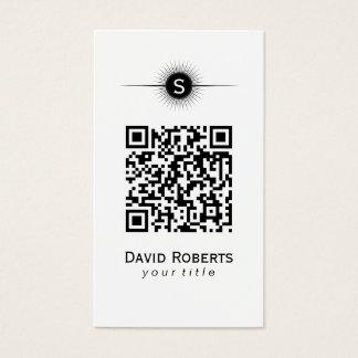 Planície simples do código moderno de QR Cartão De Visitas