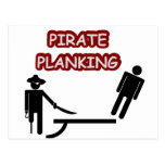 Planking do pirata cartoes postais