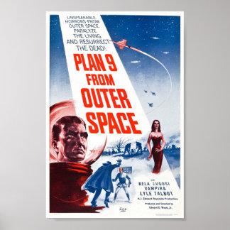 Plano 9 do espaço pôster