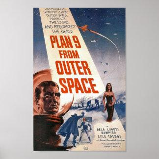 Plano 9 do poster do espaço