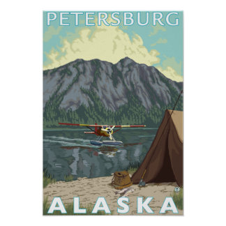 Plano de Bush pesca - Petersburgo Alaska Impressão