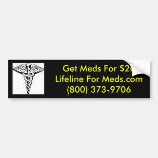 Plano LIVRE do MED para povos sem seguro da droga Adesivo Para Carro