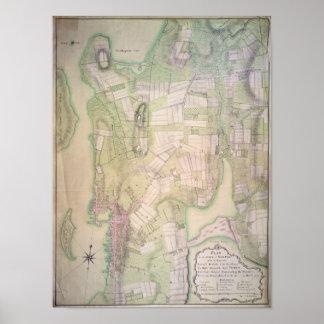 Plano militar de Newport, 1777 Poster