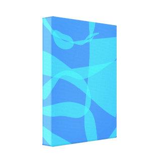 Planta azul impressão em tela canvas