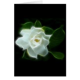 Planta branca da flor do Gardenia Cartão Comemorativo