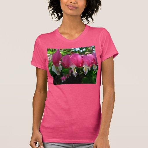 Planta de suspensão da flor dos corações tshirt