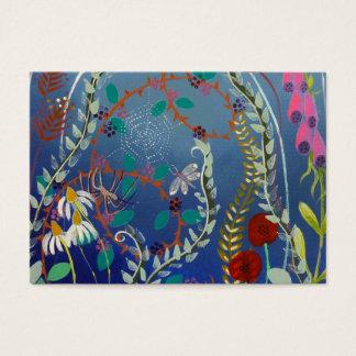 Plantas coloridas cartão de visita grande