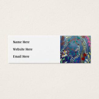 Plantas coloridas cartão de visita skinny
