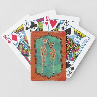 Plataforma de cartão ambarina & Azure real dos gir Baralho De Cartas