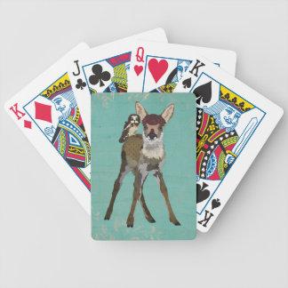 Plataforma de cartão da JOVEM CORÇA & da CORUJA Baralhos