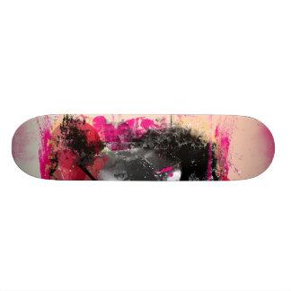 Plataforma do grunge do rosa preto e quente shape de skate 20,6cm