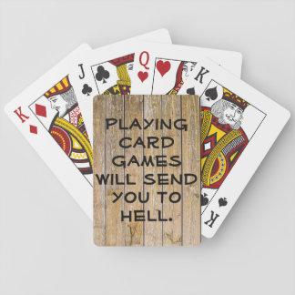 Plataforma do inferno dos jogos de cartas