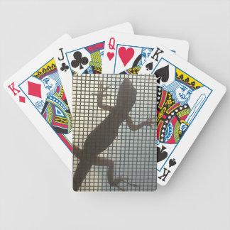 Plataforma do lagarto cartas de baralho