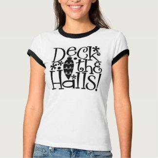 Plataforma do Natal o t-shirt das mulheres dos
