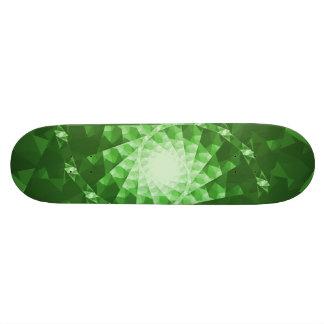 Plataforma do skate do Fractal do verde esmeralda