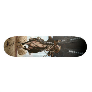 Plataforma do skate dos vaqueiros & dos aliens