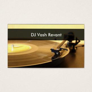 Plataforma giratória profissional do vintage do DJ Cartão De Visitas
