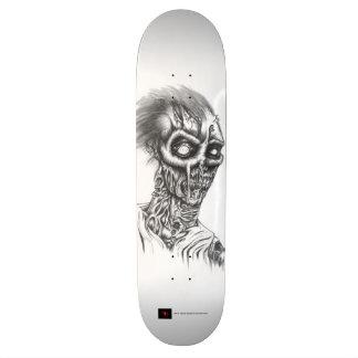Plataforma preto e branco do skate do zombi Rottin