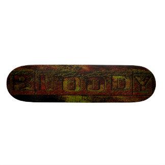 plataforma sangrenta do grunge shape de skate 19,7cm