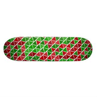 Plataforma verde vermelha do skate