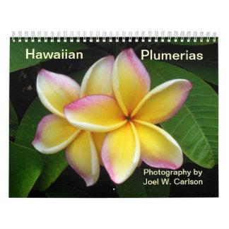 Plumerias havaianos calendário