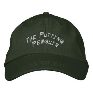 Pndo o chapéu do pinguim boné bordado