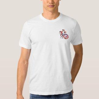 Pnha os E.U. para trás no Tshirt PocketLogo dos