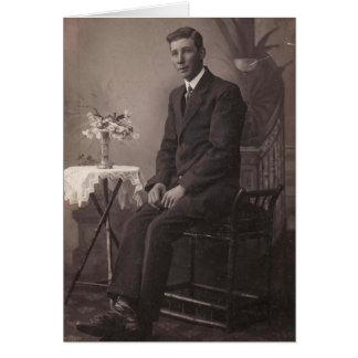 Poço - cartão serido do branco do preto do vintage