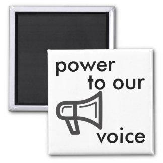 poder a nossa voz íman