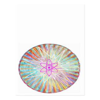 Poder da alma: Design artístico da energia solar Cartão Postal