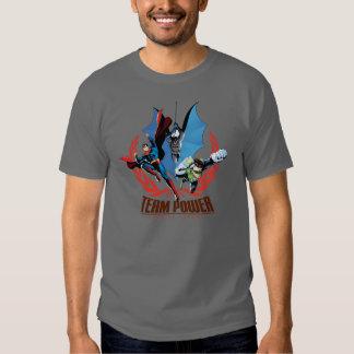 Poder da equipe da liga de justiça t-shirts