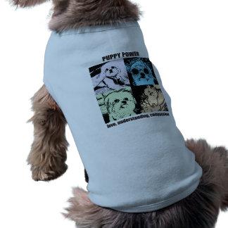 Poder do filhote de cachorro de Bella Camisa Sem Mangas Para Cachorro