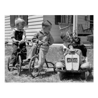 Poder do pedal, os anos 30 cartão postal