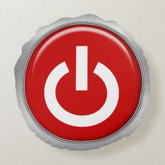 poder engraçado fora do design geeky dos botões almofada redonda