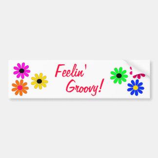 Poder-Feelin' da flor Groovy Adesivo Para Carro