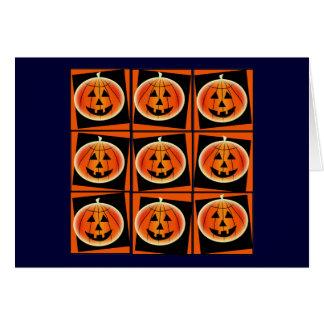 Poder o Dia das Bruxas da abóbora do pop art Cartão Comemorativo