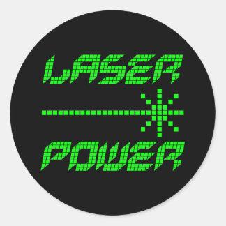 Poder retro do laser dos anos 80 do tigre de Corey Adesivo