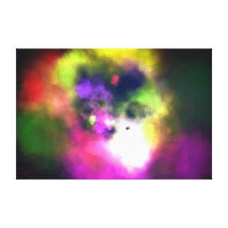 Poeira da explosão da cor impressão em tela