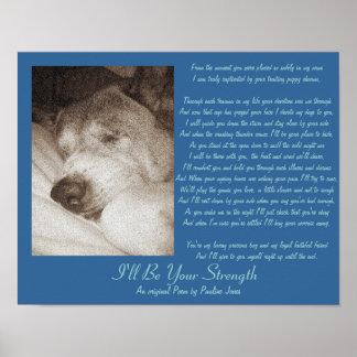 poema animal da simpatia akita do cão velho do poster