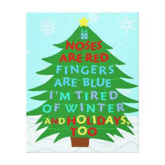 Poema engraçado do Natal da farsa de Bah Impressão Em Tela