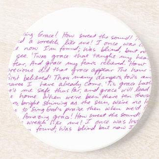 Poemas líricos escritos à mão da benevolência porta copos de arenito
