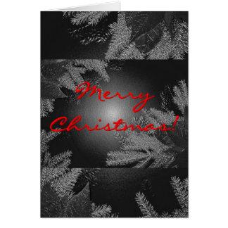 Poinsétia do Natal preta e cinza em inglês Cartões