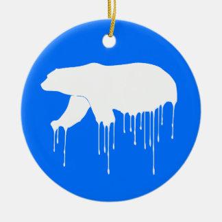 Polar derreta-se ornamento de cerâmica