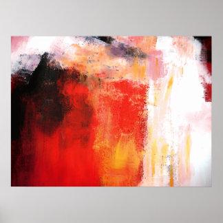 Polar vermelho - poster da arte abstracta