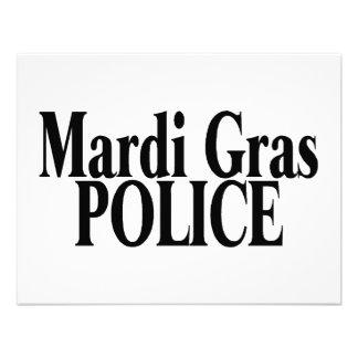 Polícia 2 do carnaval convites personalizados