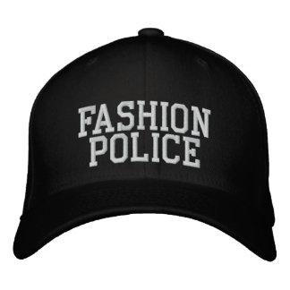 Polícia da forma boné bordado