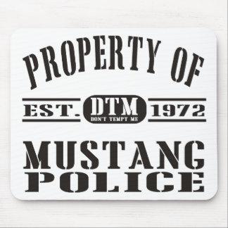 Polícia do mustang mouse pad