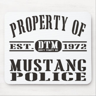 Polícia do mustang mouse pads