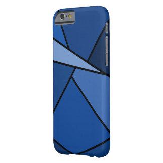 Polígono azuis abstratos capa barely there para iPhone 6