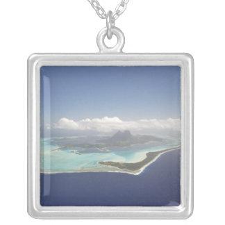 Polinésia francesa, Tahiti, Bora Bora. Colar Banhado A Prata